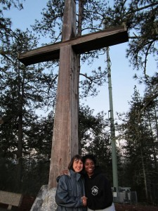 Kiersti and I at the cross